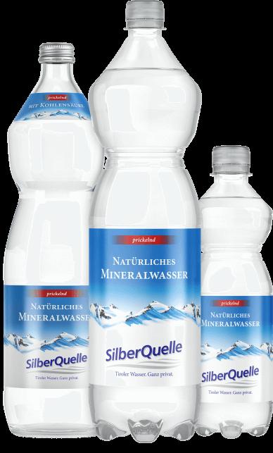 Natürliches Mineralwasser prickelnd